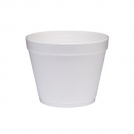 DART 24MJ48, 24 OZ WHITE FOAM CONTAINER, (500) USE ANY SIZE 48 LID