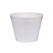 CONTAINER, FOAM, WHITE, 24 OZ