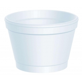 DART 4J6, 4 OZ WHITE FOAM CONTAINER, (1000) USE ANY SIZE 6 LID