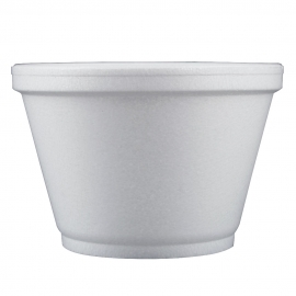 DART 6SJ12, 6 OZ WHITE FOAM CONTAINER, (1000) USE ANY SIZE 12 LID
