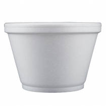 CONTAINER, FOAM, WHITE, 6 OZ,