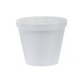 DART 8SJ12, 8 OZ WHITE FOAM CONTAINER, (1000) USE ANY SIZE 12 LID