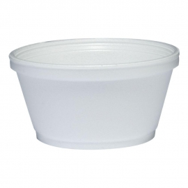 DART 8SJ20, 8 OZ WHITE FOAM CONTAINER, (1000) USE ANY SIZE 20 LID