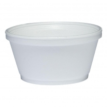 CONTAINER, FOAM, WHITE, 8 OZ,