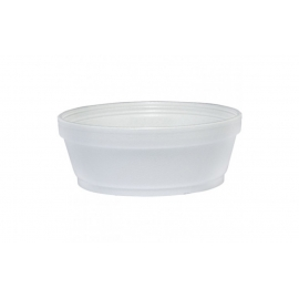 DART 8SJ32, 8 OZ WHITE FOAM CONTAINER, (500) USE ANY SIZE 32 LID