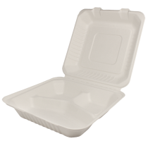 TO GO, BAGASSE, H/L 3-COMP, 9
