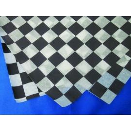 """DPI DRY WAX, BLACK/WHITE CHECKERED DELI PAPER, 12"""" X 12"""" FLAT PACK (5/1000)"""
