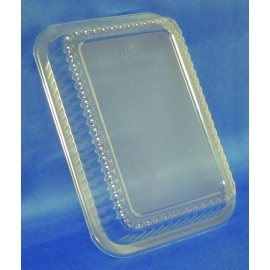 DPI PLASTIC DOME LID FOR 1.5 LB OBLONG CONTAINER, P245-500 (500)