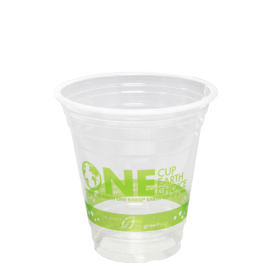 KARAT EARTH 12 OZ CLEAR PLA CUP  *STOCK PRINT*, COMPOSTABLE (1000)