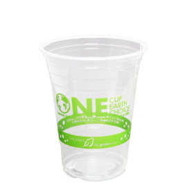 KARAT EARTH 16 OZ CLEAR PLA CUP  *STOCK PRINT*, COMPOSTABLE, KE-KC16G (1000/CS)
