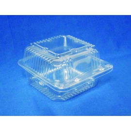 "DPI CLEAR PLASTIC, 6"" SQUARE HINGED LID CONTAINER , PXT-11600 (500)"