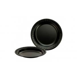 """DARNEL 9"""" BLACK FOAM PLATE, 5009199 (500)"""