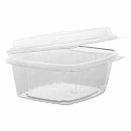 GENPAK PLASTIC 12 OZ, HINGED LID, DELI CONTAINER, SECURE SEAL,  AD12 (200)