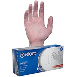 ELARA MEDIUM POWDERED VINYL GLOVES, PREPFIT, FVP102 (100/BX)