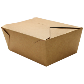 "KARAT 110 OZ KRAFT PAPER 4 TO GO CONTAINERS,  8"" X 5.5"" X 3.5"", FP-FTG110K (160)"