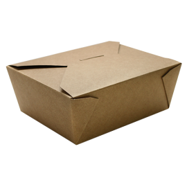 "KARAT 48 OZ  KRAFT PAPER 8 TO GO CONTAINERS,  5.9"" X 4.6"" X 2.4"", FP-FTG48K (300)"
