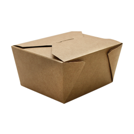 "KARAT 30 OZ  KRAFT PAPER 1 TO GO CONTAINERS,  4.3"" X 3.5"" X 2.4"", FP-FTG30K (450)"