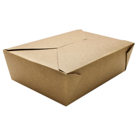 "KARAT 76 OZ KRAFT PAPER TO GO CONTAINERS, 7.8"" X 5.5"" X 2.4"" (200)"