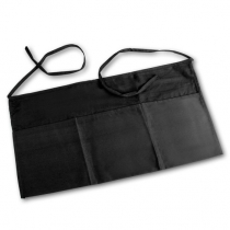 WAIST APRON, 3-POCKET, BLACK (