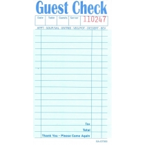 GUEST CHECK, 2-PART, BOOK, CL