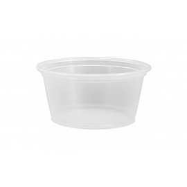 PORTION CUP, CLEAR, 2 OZ, POLYPROPYLENE - 2,500 PER CASE