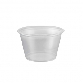 PORTION CUP, 4 OZ, CLEAR, POLYPROPYLENE - 2,500 PER CASE