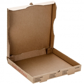 "PIZZA BOX, 12"", KRAFT, STOCK PRINT CORRUGATED B-FLUTE - 50 PER BUNDLE"