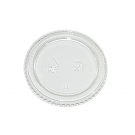 PORTION CUP LID, CLEAR, FOR 2 OZ PORTION CUP, PET - 2,500 PER CASE