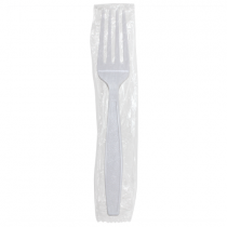 FORK, PLASTIC, *WRAPPED* WHITE