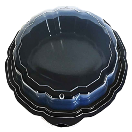 """PURE PACKAGING TO GO CONTAINER, PLASTIC, HINGED LID, 7.5"""" BLACK/CLEAR"""