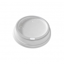 LID, PLASTIC, DOME SIP, WHITE,