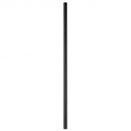 "SIP / STIR STRAW, 6"", BLACK, ALL-PURPOSE, UNWRAPPED - 10,000 PER CASE"