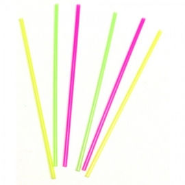 "ASSORTED NEON STIR STRAW, 5.25"", UNWRAPPED (10,000)"
