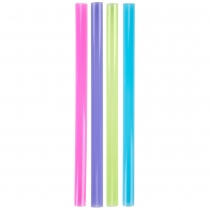 STRAW, 8 NEON, GIANT ASSORTED