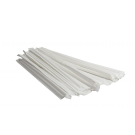 "CLEAR JUMBO (STANDARD) BEVERAGE STRAW, 10.25"", WRAPPED (2,000)"