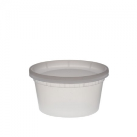 DELI CONTAINER & LID COMBO, 12 OZ, HEAVY DUTY POLYPROPYLENE - 240 PER CASE