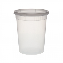 DELI CONTAINER & LID COMBO, 32 OZ, HEAVY DUTY POLYPROPYLENE - 240 PER CASE