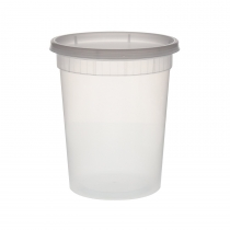 CONTAINER, DELI, 32 OZ, CLEAR,