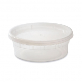 DELI CONTAINER & LID COMBO, 8 OZ, HEAVY DUTY POLYPROPYLENE - 240 PER CASE