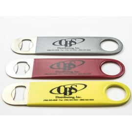 """CBS"" FLAT, 2-SIDED, VINYL-COATED BOTTLE OPNER (EACH)"
