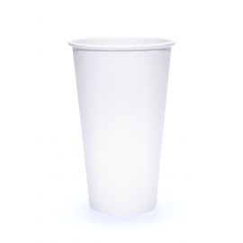 SOLO 20 OZ, WHITE PAPER HOT CUP, 420W-2050 (600)
