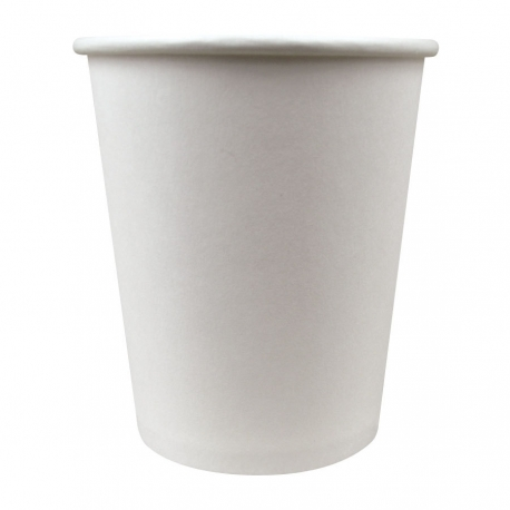 CUP, PAPER, 8 OZ, WHITE, HOT