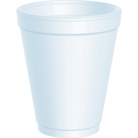 DART 10J10, 10 OZ WHITE FOAM CUP (1000) USE ANY 10 SERIES LID