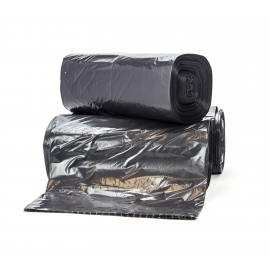 "TRASH CAN LINER / BAG, 40"" W X 60"" L, BLACK, 1.1 MIL - 100 PER CASE"