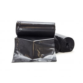 "TRASH CAN LINER / BAG, 30-40 GALLON, BLACK, 33"" W X 46"" L (100)"