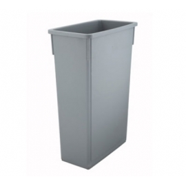SLIM RECTANGULAR GRAY 23 GALLON TRASH / GARBAGE CONTAINER (EACH)