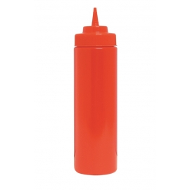 12 OZ RED SQUEEZE BOTTLE WITH CAP (6)