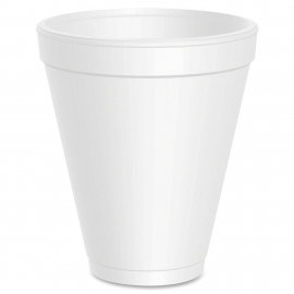 DART 12J16, 12 OZ WHITE FOAM CUP, SQUAT (1000) USE ANY 16 SERIES LID