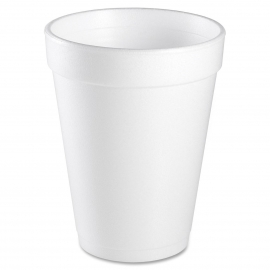 DART 14J16, 14 OZ WHITE FOAM CUP, SQUAT (1000) USE ANY 16 SERIES LID