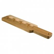 ANCHOR HOCKING 90038, 4-HOLDER WOOD PADDLE, BARBARY (12)